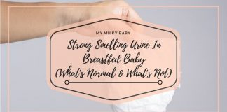 Your Breastfed Baby Urine Smells Strong Here is When It's Time To Call a Doctor Header