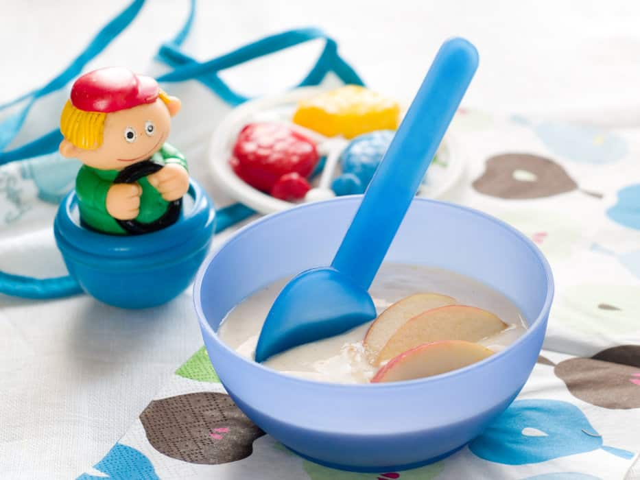 oatmeal vs rice cereal for babies with reflux image
