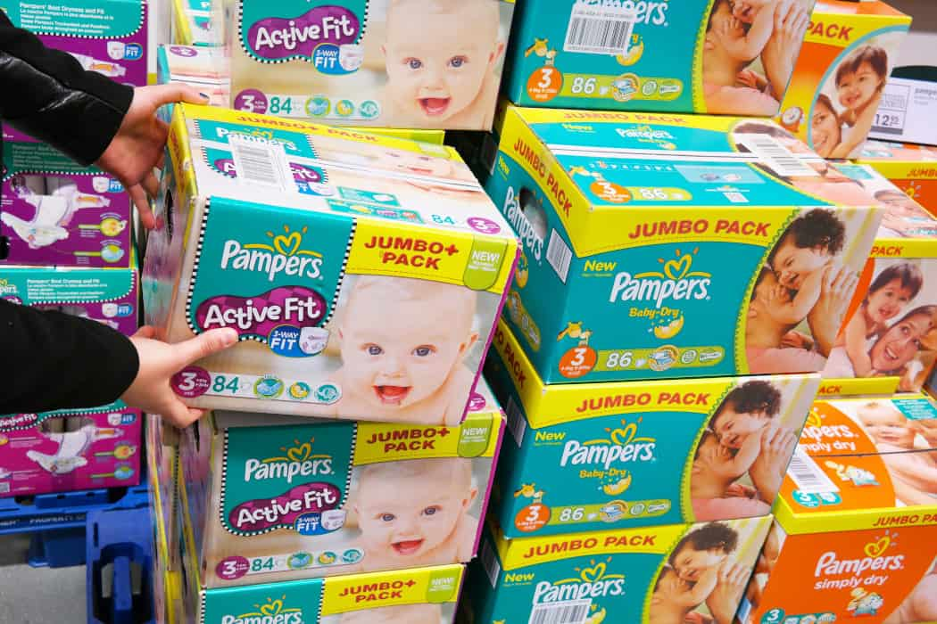 Pampers Size Chart By Baby's Weight Header