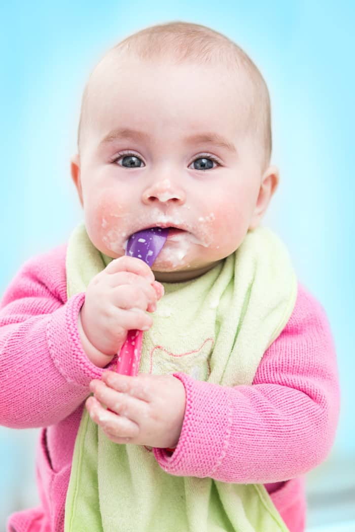 Baby prefer solid foods