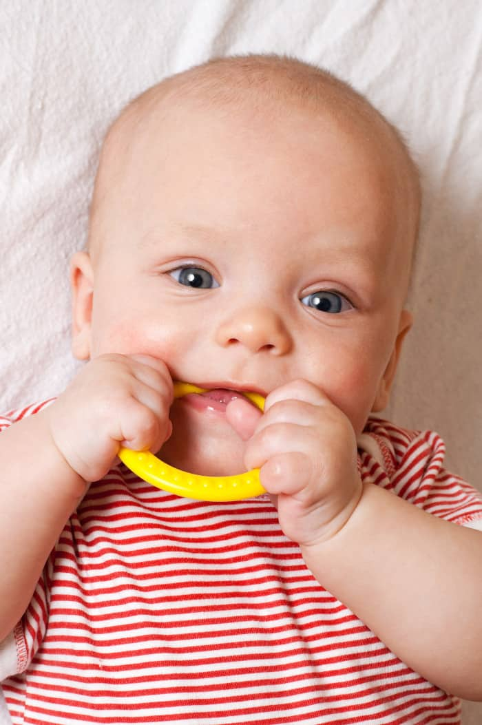 Teething can be a reason why babies won't take bottle at bedtime